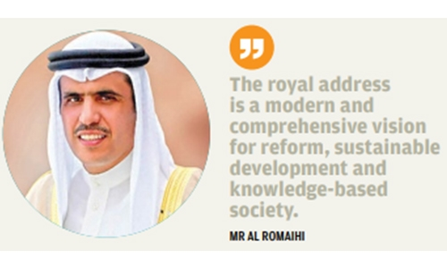 Royal address emphasises the vision to pursue national march