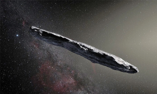 Cigar-shaped asteroid came  from another solar system