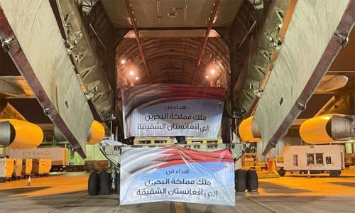 Bahrain dispatches fourth relief aid shipment to Afghanistan