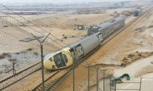 Train derails in Saudi