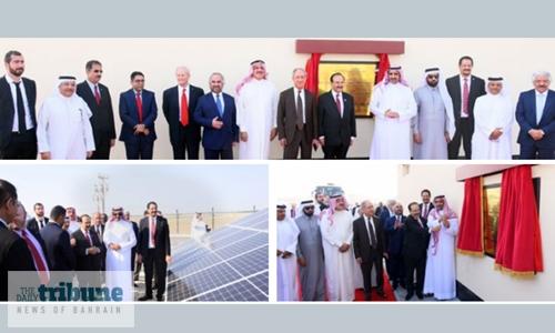 Oil minister opens Tatweer's 3 Megawatt solar energy plant