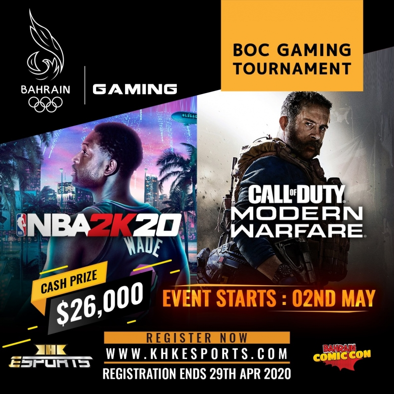 Second Tournament announced by BOC eGaming Tournament with KHK eSports and Comic Con