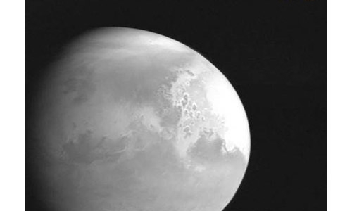 China's Mars probe sends back its first image of Red Planet
