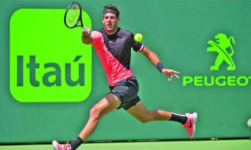 Miami Open 2018: Raonic ousted by del Potro for second consecutive tournament
