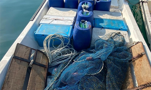 Four held for using illegal trawling nets in Bahrain