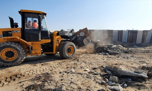 Northern Municipality remove 80 shipments of construction waste and rubble