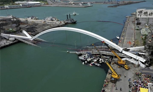 Last body retrieved after Taiwan bridge collapse