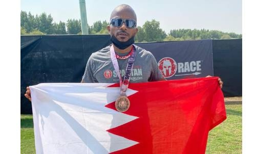 Bahraini Nawaf Mubarak takes podium place in Abu Dhabi Spartan race