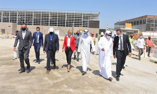 Industry Minister pays inspection visit to new BIECC project