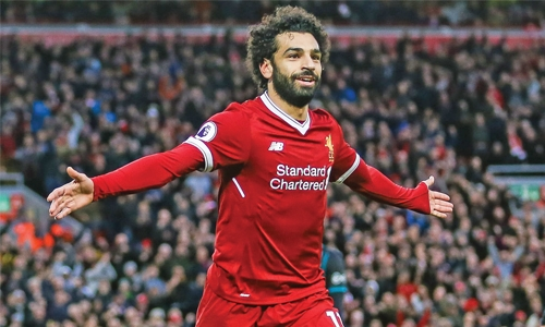 Salah brace lifts  Liverpool
