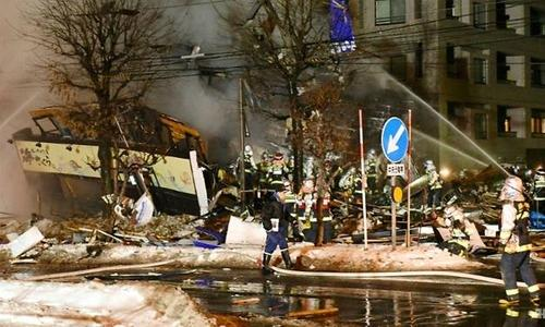 Japan police investigate cause of blast in Sapporo