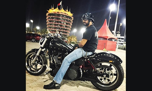 Hatim & his Harley